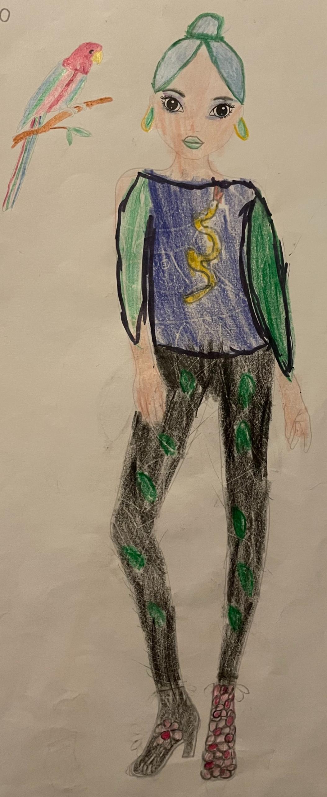 Silje  J., 8 år, fra Kolding