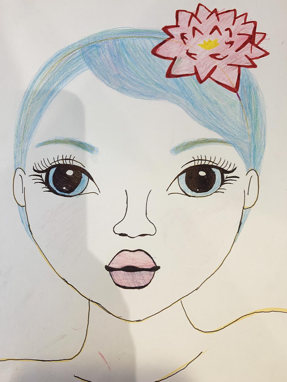 Josefina D., 8 años, de Santiago