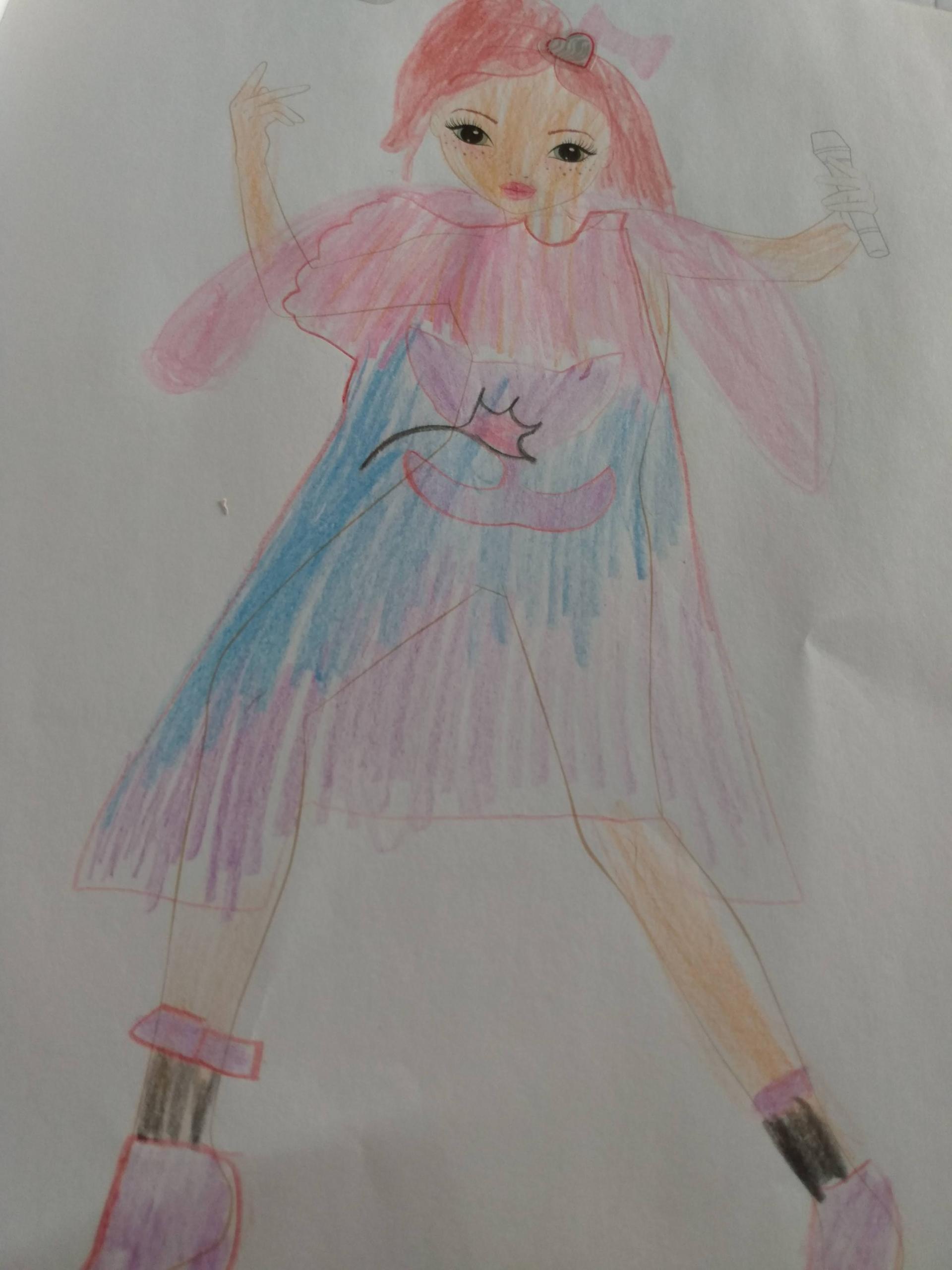 Violeta M., 7 años, de Chile