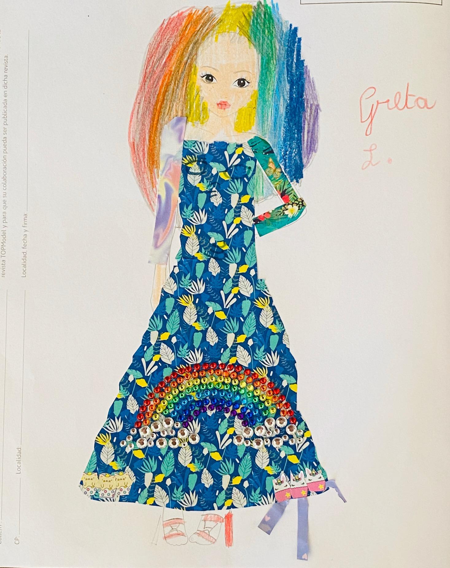 Greta L., 7 años, de Milano (Italia)