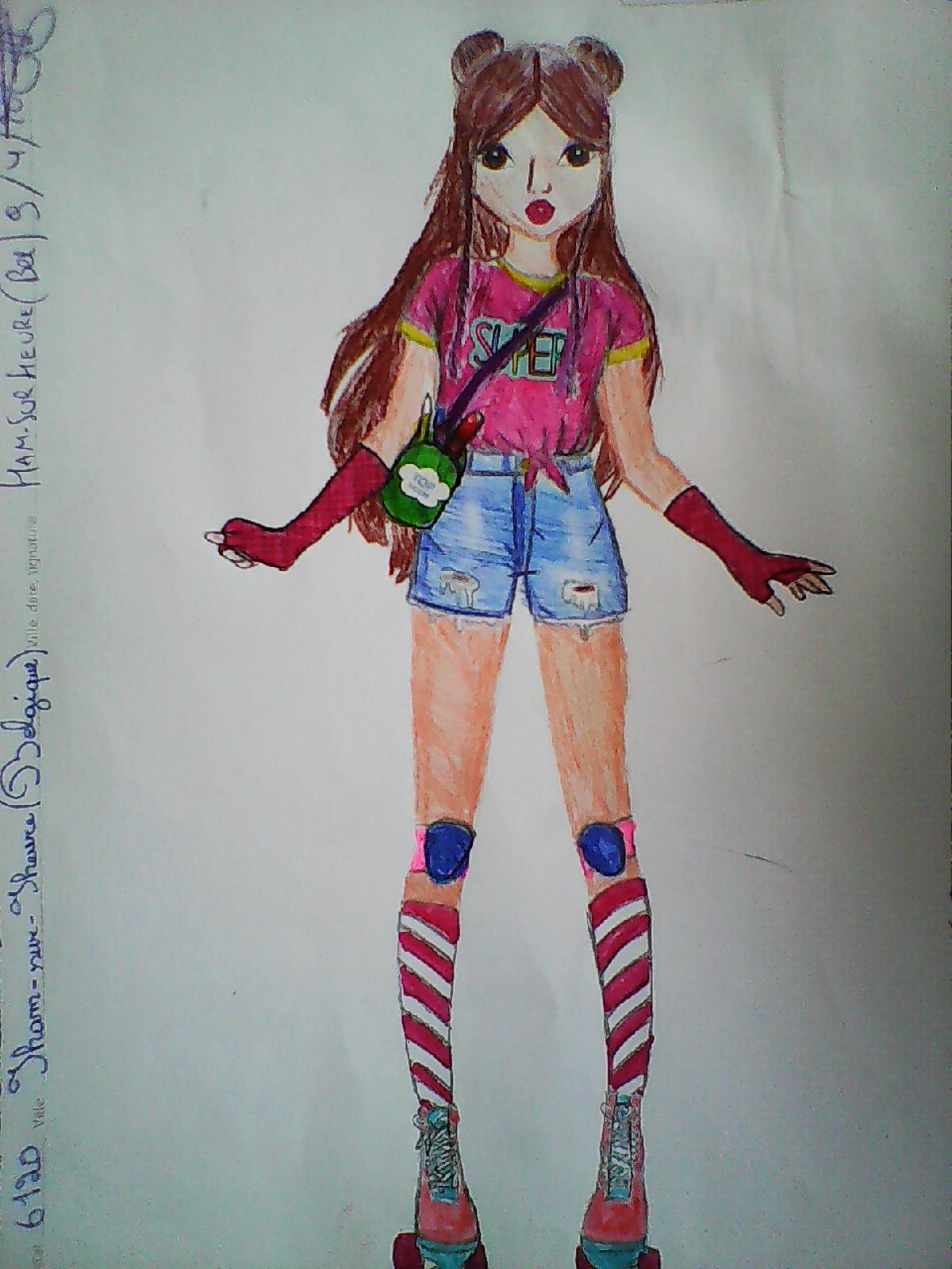 Olivia G., 12ans, surHam-sur-Heure