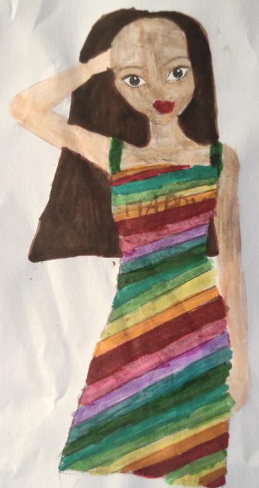 Blanche D., 9 ans, sur Montreuil