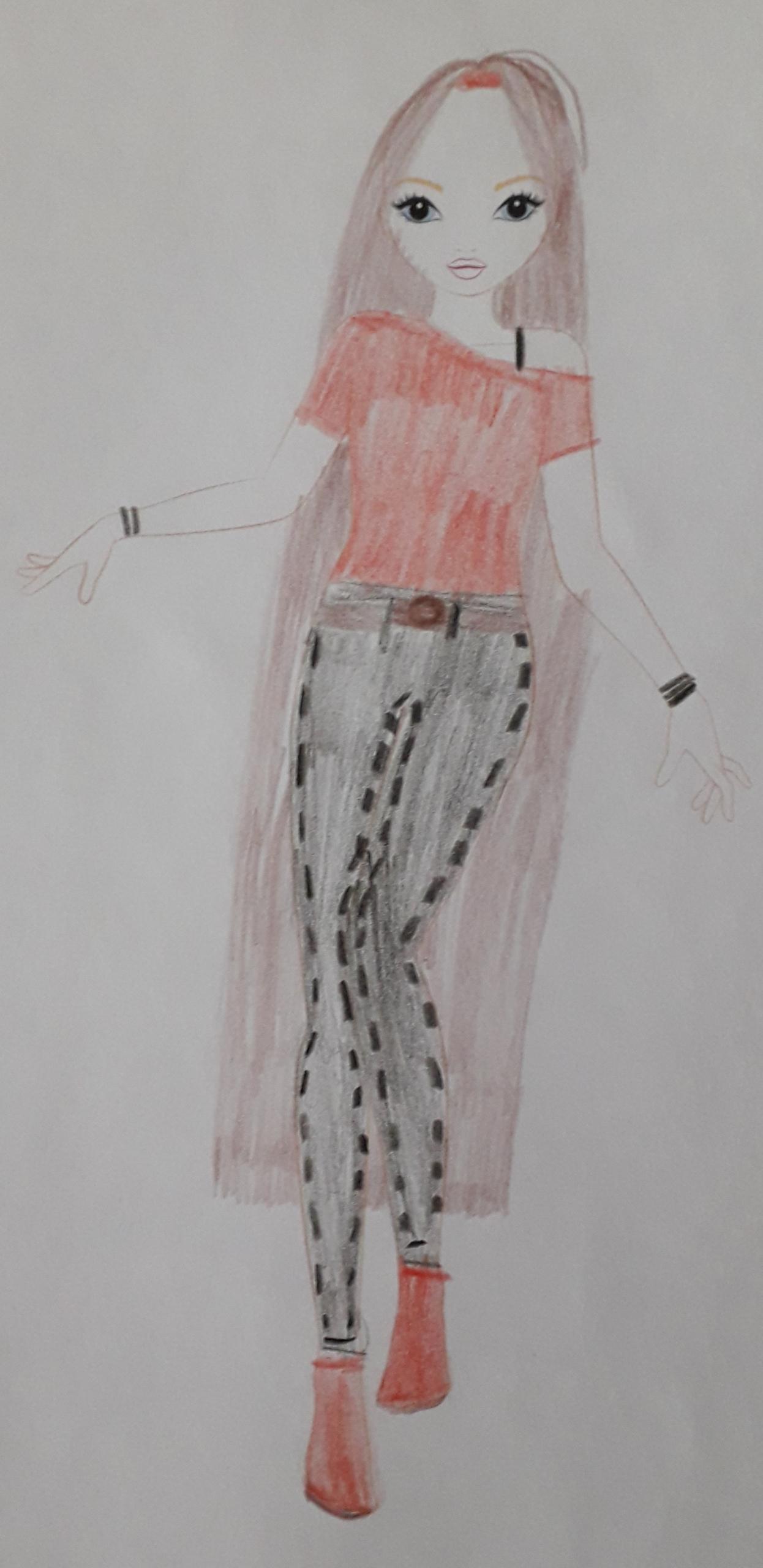 Louisa G., 9 ans, sur Pelleautier