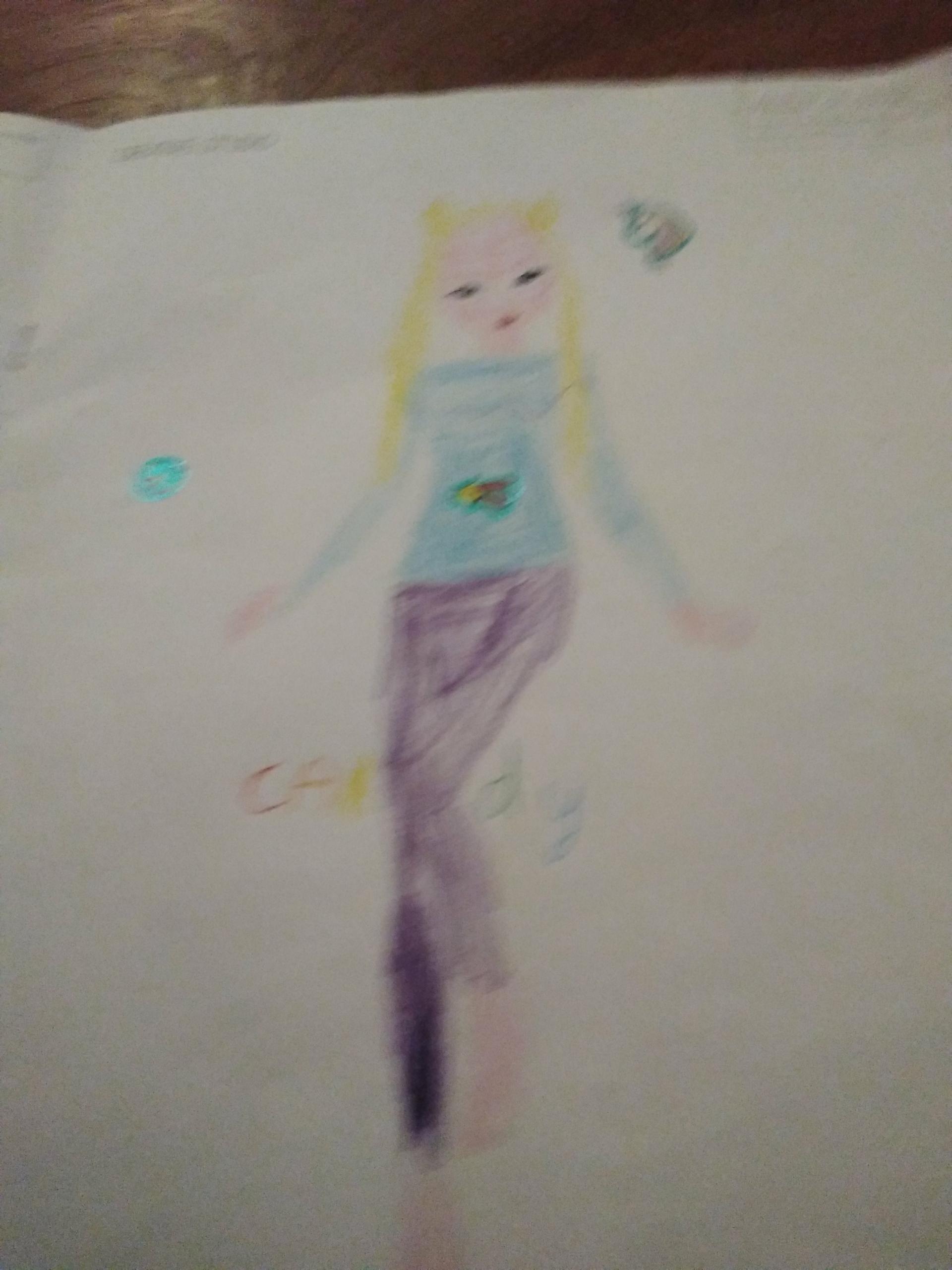 Juliette  P., 8 ans, sur Maison