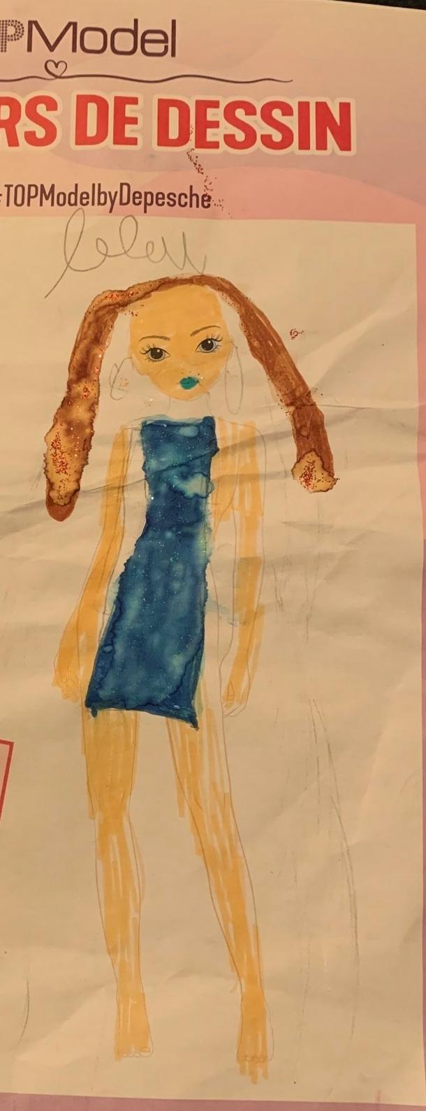 Lina B., 7 ans, sur Suresnes