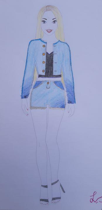 Louise S., 13 år, ur V-vik