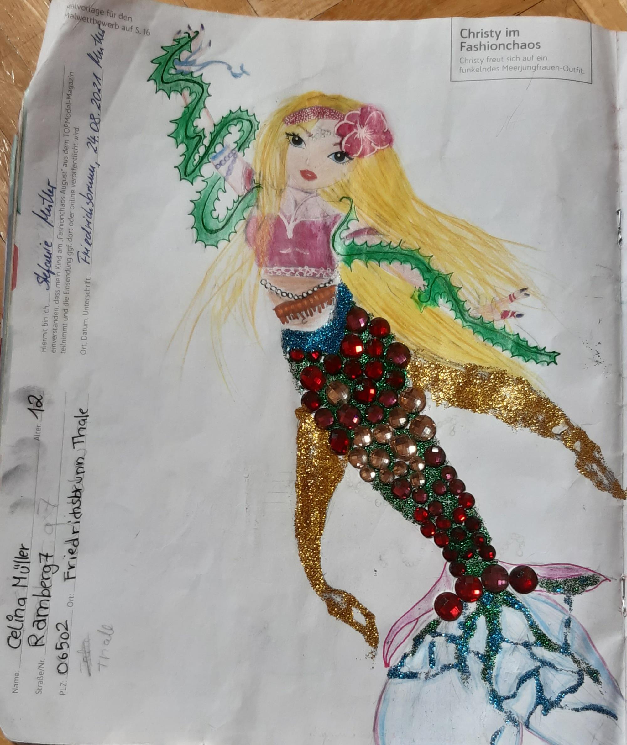Celina M., 12 Jahre, aus Friedrichsbrunn Thale